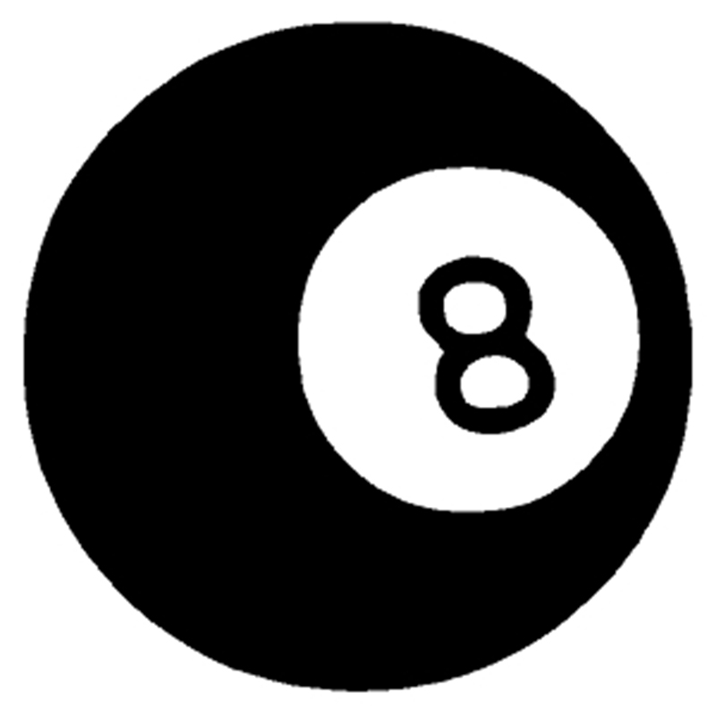 "Magic 8 Ball Window Sticker Decal 6""h"