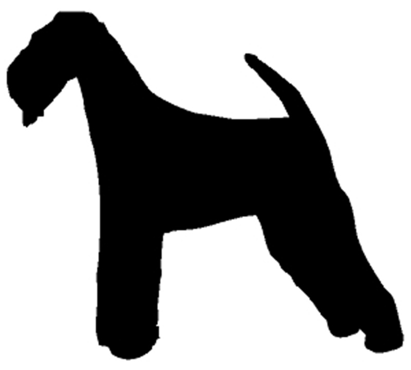 "Airedale Dog Window Sticker Decal 6""h"