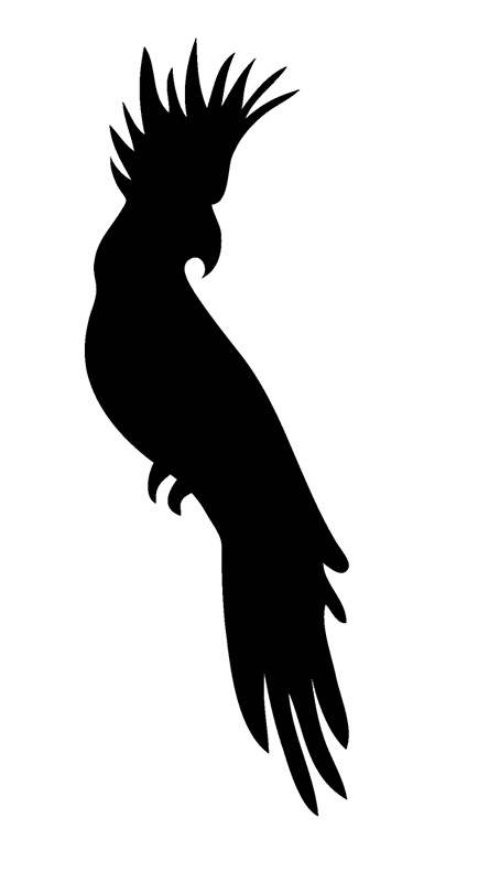 "Bird Sticker Window Decal 6""h"