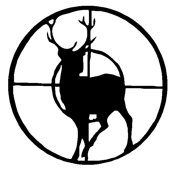 "Buck Deer Window Sticker Decal 6""h"