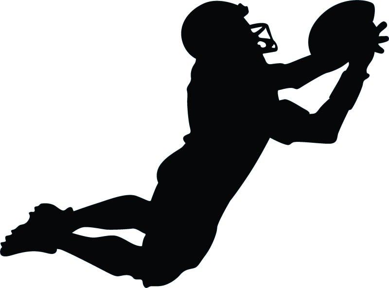 "Football Player Window Sticker Decal 6""h"
