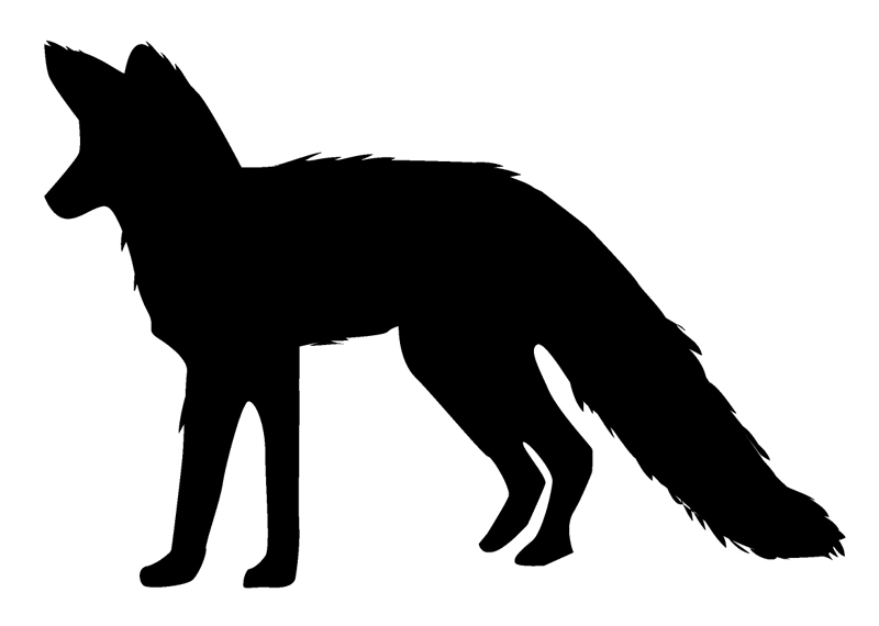 "Fox Window Sticker Decal 6""h"