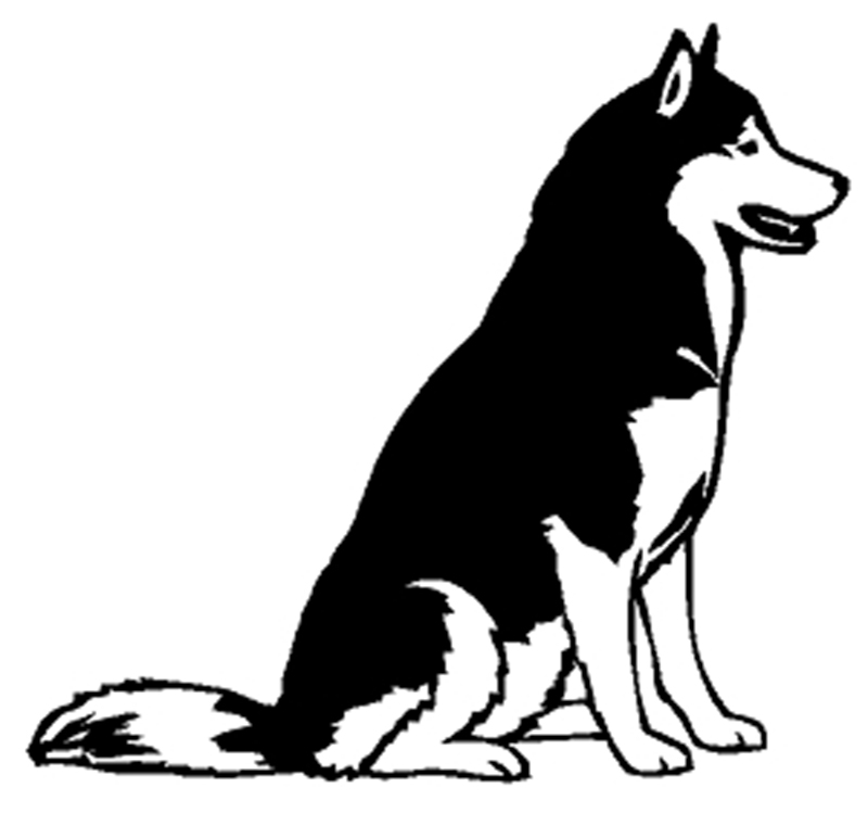 "Siberian Husky Window Sticker Decal 6""h"