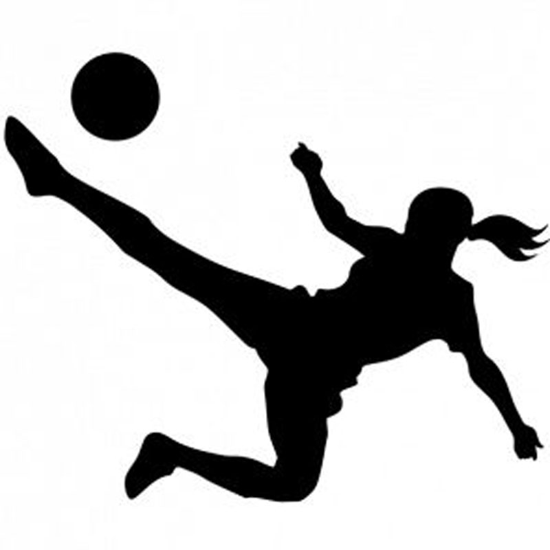 "Soccer Girl Window Sticker Decal 6""h"